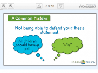 Slides from each part of the video are a great teacher resource.