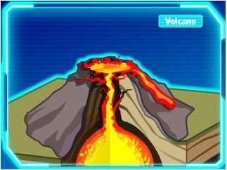 Protect the town from the volcano.