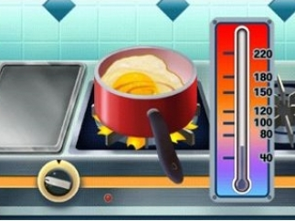 Watch the thermometer so you don't burn your food!