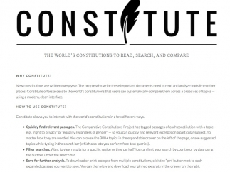 Learn the history of the Constitute Project and how to use the site.