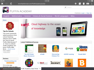 Gain access to educational Flash-based online media, like museum websites and educational games.