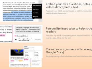 Students can add, edit, share, and collaborate as they read.