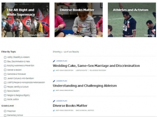 Under the Education tab, there's over 100 full lesson plans, complete with links, templates, references, and additional resources.