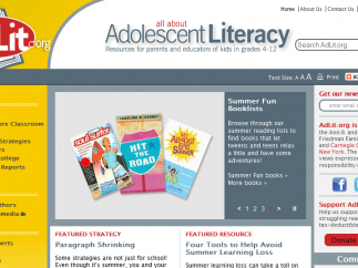 AdLit's rotating features and recommendations appeal to both kid readers and grownups.