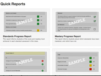 ActiveGrade provides a variety of useful report templates -- you can also create custom reports.