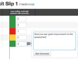 The process for commenting and uploading evidence of students' work is very efficient.