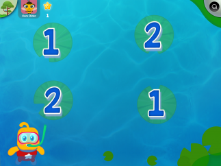 One game teaches number recognition through matching.
