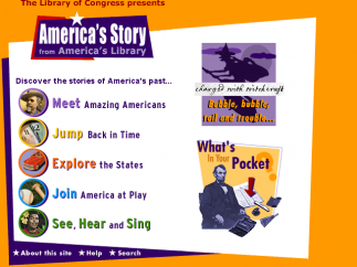 America's Story home page.