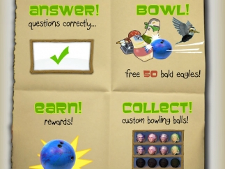 Students must answer questions correctly to get a chance to bowl.