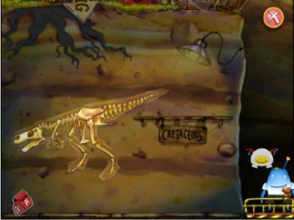 What dinosaurs will kids find down deep on the dig?