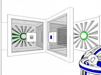 Level elements can change based on the player's point of view.