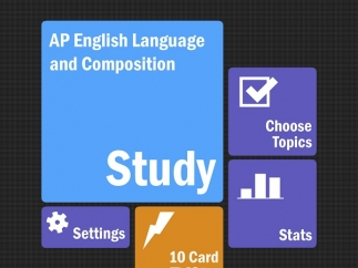 Choose from study mode, a 10-card blitz, or a specific topic.