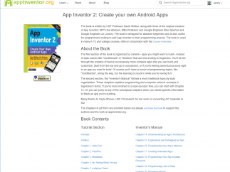 The entire App Inventor 2 book is included on the site in PDF form.