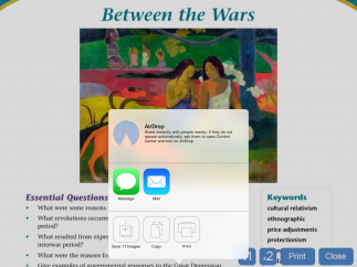 Users can easily export chapters from the full-length e-book to the camera roll for use elsewhere on the device.