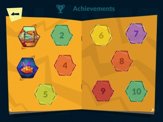 Kids earn rewards for completing lessons and earning points in the games.