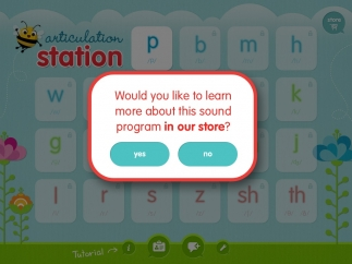 To purchase letters, tap on one and the app prompts you to go to its store.