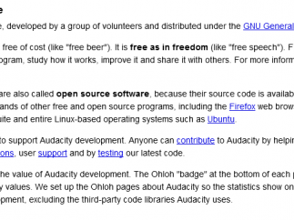 There's a good amount of information about free software and the open-source movement.