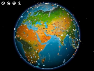 Kids start by spinning and exploring the beautiful Barefoot World Atlas globe.