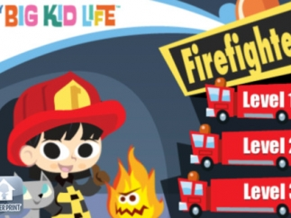 Kids choose the level of difficulty based on the length of fire truck they choose. The difficulty increases in the buildings and the problem-solving of rescuing the animals more than in the actual questions.