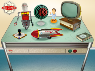 Explore the many science activities and videos on Bill's desk.