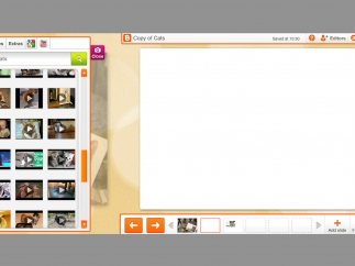 Kids and teachers can review and revise work on the slidebook review screen.