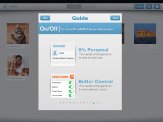 Intro screens offer helpful tips on the best ways to use, create, and share boards.