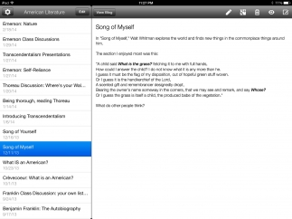 The Blogger app provides easy access to Blogger posts.