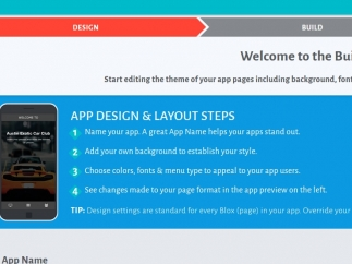 Design an app from scratch or use a design template.