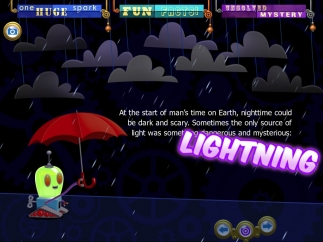 The subject pages, such as the one for lightning, include many learning opportunities.