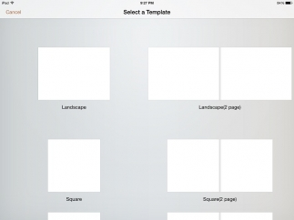 Choose from one- or two-page templates.