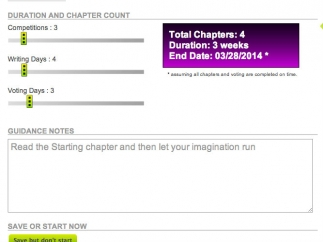 Teachers set the parameters for number of chapters and number of days to write.