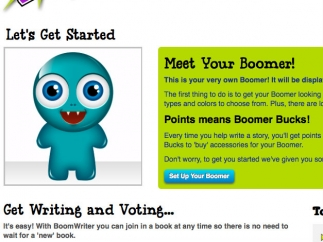 Earning Boomer Bucks to develop your Boomer avatar is supposed to encourage writing.