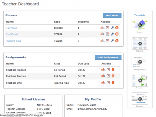 Spartan dashboard gives teachers some administrative control