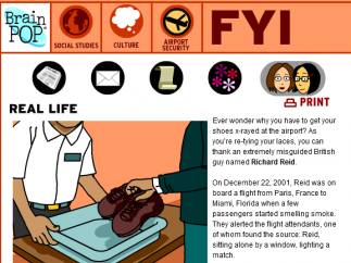 The FYI section offers bonus information and activities, including real-world examples.