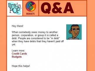 The Q&A section includes questions that pertain to kids and their lives.