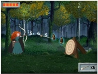 Help Merida with her archery practice.