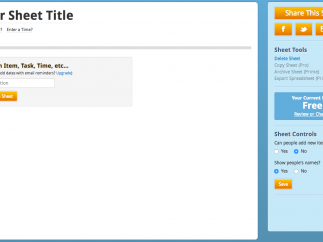 The site makes it easy to create new lists.