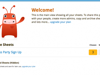 The admin dashboard displays all the sign up lists.