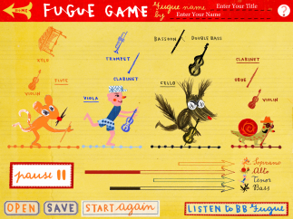 Fugue game lets kids organize and re-order different sections of the music and play back the results.