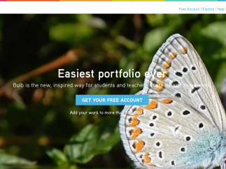 Bulb is a website that lets students and teachers build portfolios of content.