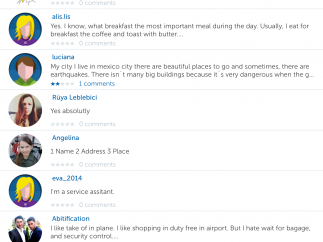 As a social network for language learning, busuu lets users comment on the responses of other learners.