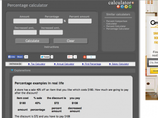 The percentage calculator has more value as it gives context for its number-crunching.
