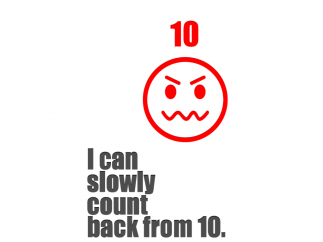 """The """"10"""" face and color clearly show anger, and then the app begins the countdown."""