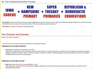 Expert videos delve into how the presidential election process; here, explore the primaries.