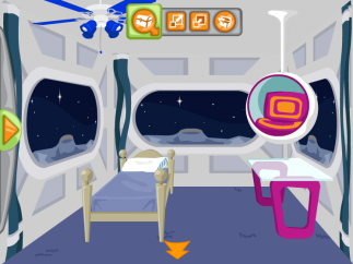 Kids earn points to spend on cool furniture to decorate their virtual dorm rooms.