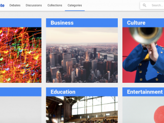 Browse posts by pre-set categories; you can mark posts with your own tags, too.