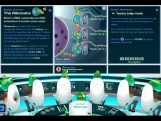 For each minigame, an explanation of the game goal and the function of the organelle are explained.