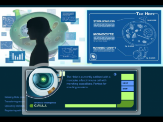 For each mission, the A.I. explains what kind of cell the students will be.