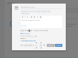 Create and upload assignments with resources and deadlines with ease.