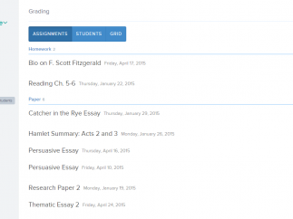 Teachers can view and manage grades in three different formats.